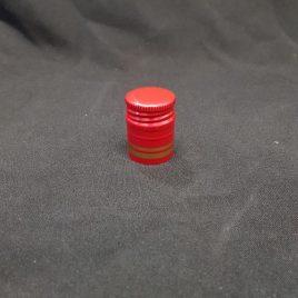 Zakrętka Czerwona<br> ze złotym paskiem<br>28x38mm
